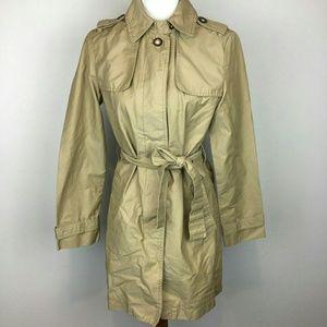 GAP Khaki Trench Coat Waist Belt Medium